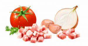 Zutaten für Amatriciana Soße