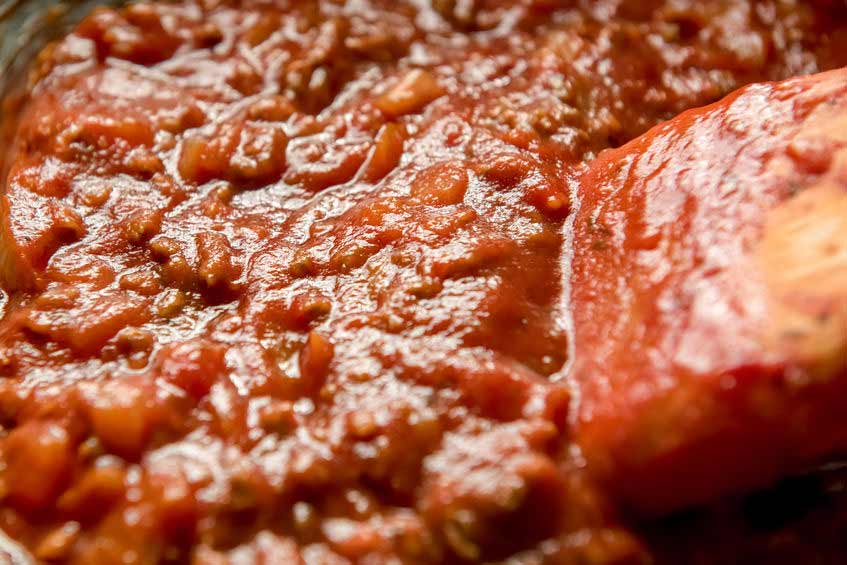 Bolognese kochen lassen
