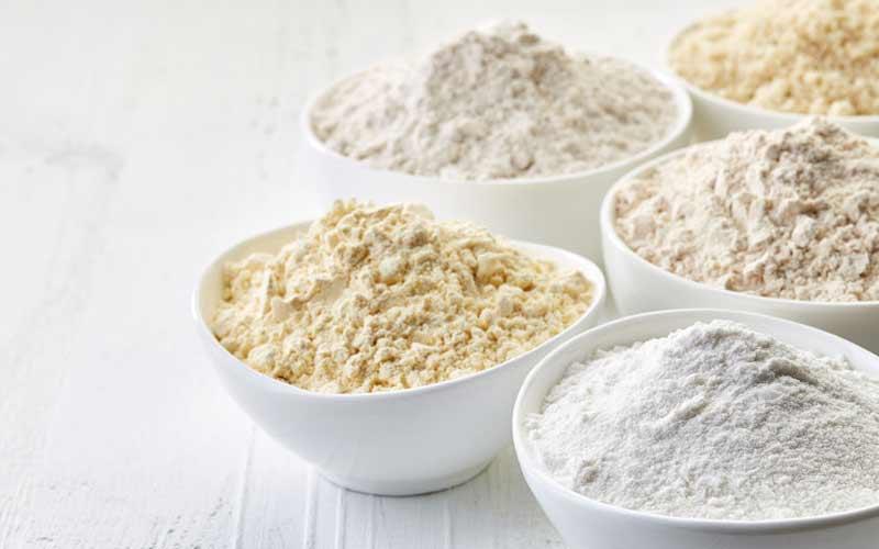 Verschiedene Mehlsorten für Nudeln