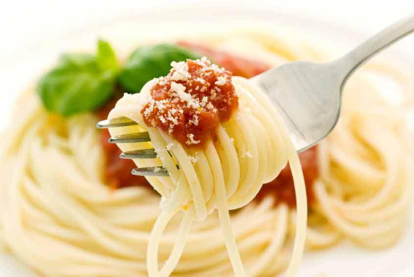 Nudeln mit Parmesan