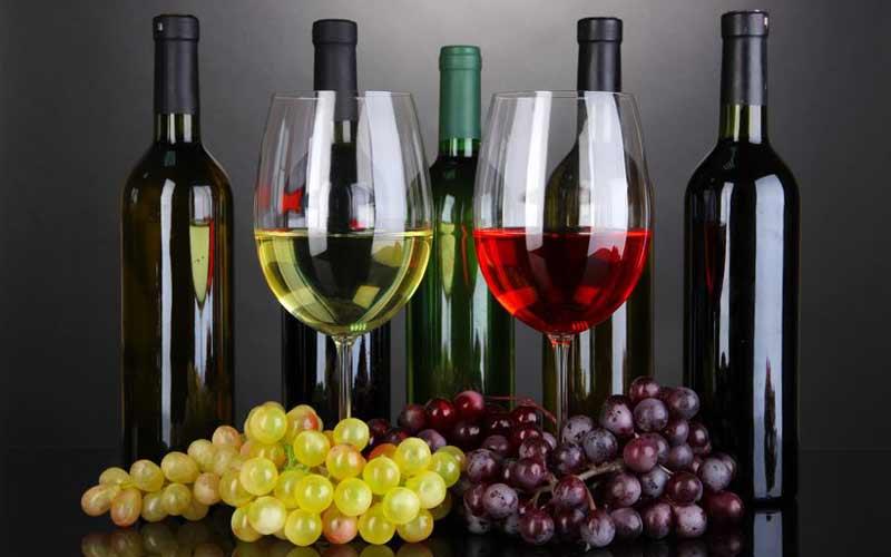 Verschiedene Weinsorten